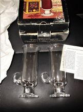 BNIB 2 X DARTINGTON GAELIC COFFEE GLASSES BOX BIT TATTY GLASSES STILL IN TISSUE